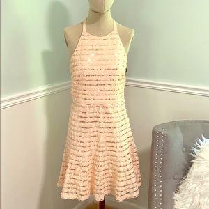 Blush sequined dress